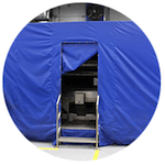 Clear rot uv tent