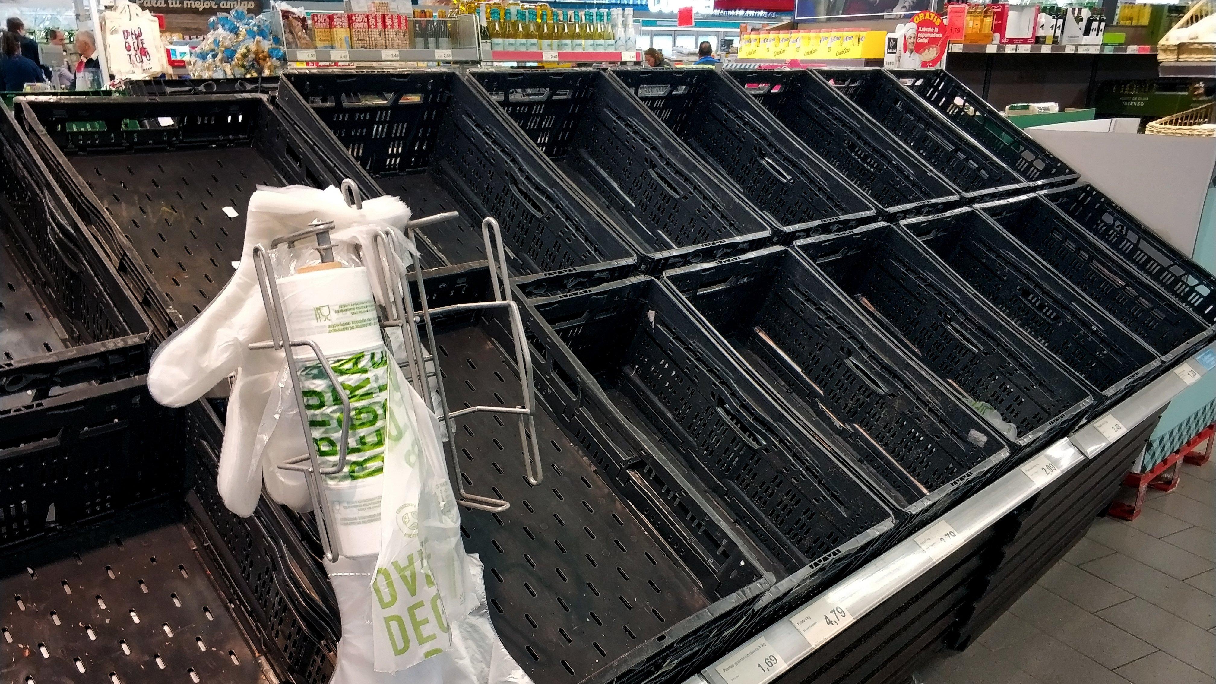 empty supermarkets
